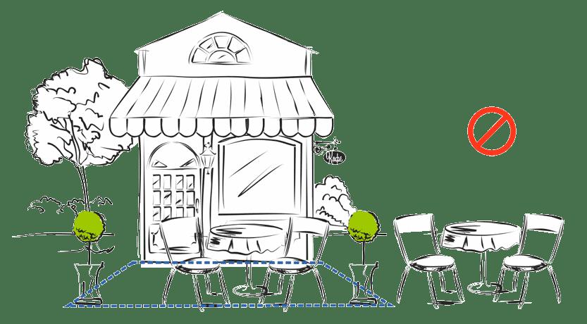 Штраф и ответственность — Летнее кафе без разрешения
